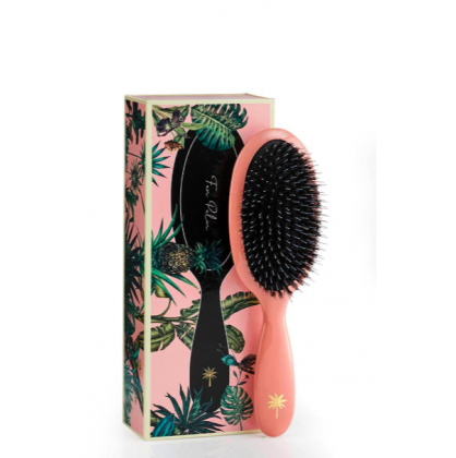 Fan Palm Hair Brush Flamingo