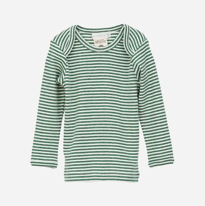 Serendipity T-shirt med lange ærmer Grøn/Ecru