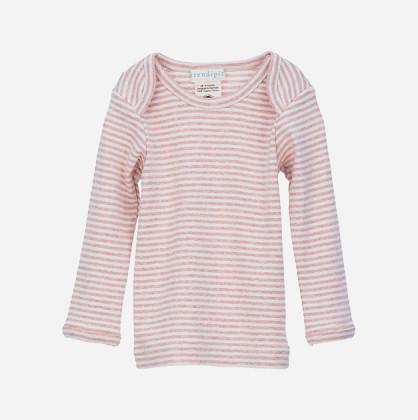 Serendipity T-shirt med lange ærmer Rosa/Ecru