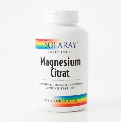 Solaray Magnesium Citrat 180 stk