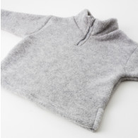 Engel Baby Sweater Uldfleece med lynlås Grå