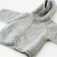 Engel Baby Uldfleece Jakke Grå
