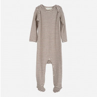 Serendipity Baby Suit Stripe Iron/Off White