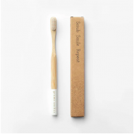 Grums Bamboo Toothbrush White