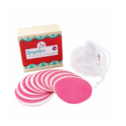 Lamazuna genanvendelige rondeller 20 stk. inkl. trææske og vaskepose