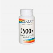 Solaray C500+ hyben og citron 180 tabletter
